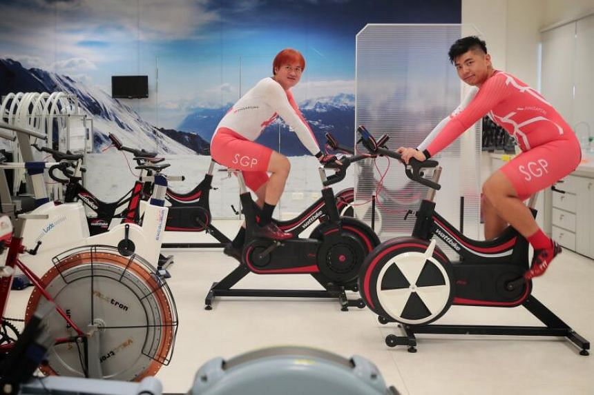 Steve Tee (left) trains 18 to 23 hours a week, while Ang Kee Meng trains more than 25 hours.