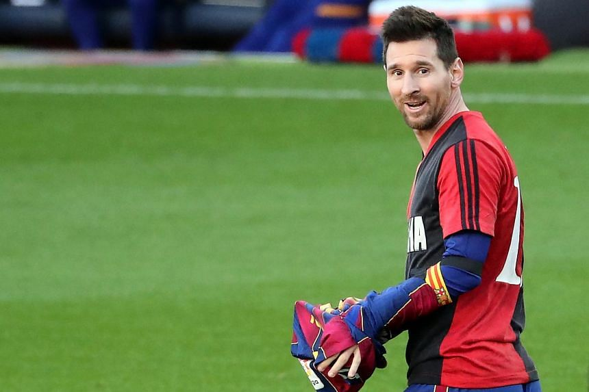 Messi was linked with a move to Manchester City and sent a recorded delivery letter stating his intention to leave.