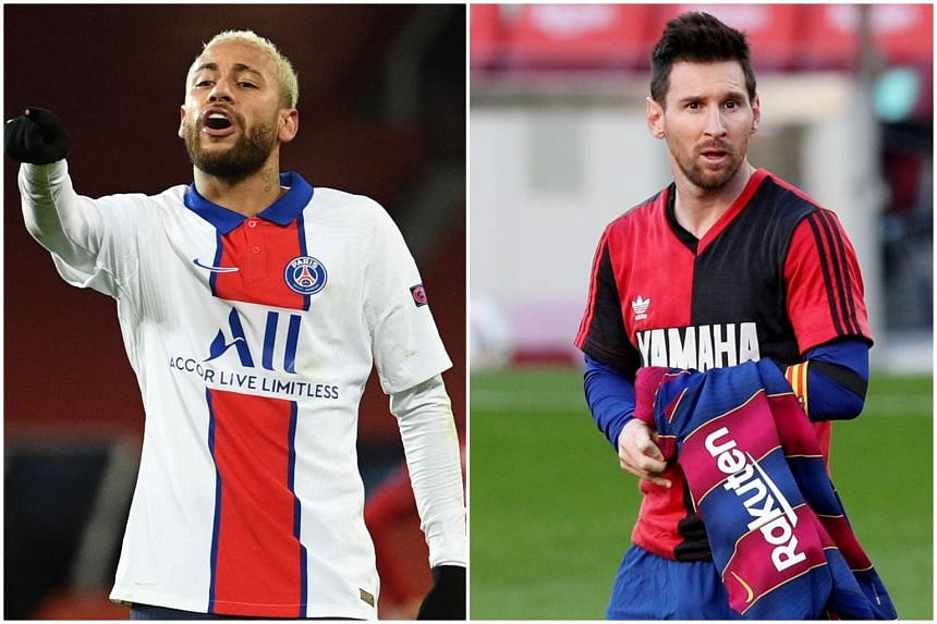 Neymar (left) and Lionel Messi.