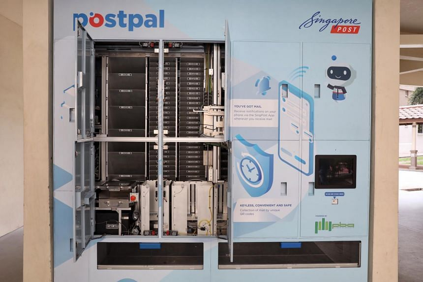 Residents will scan a QR code generated by the SingPost app to retrieve their items from the machine.