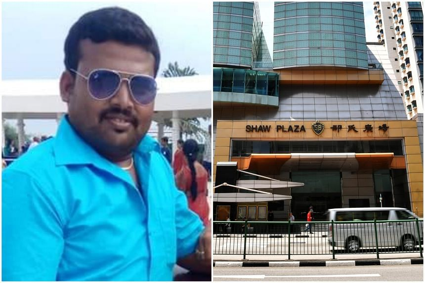 Mr Ramakrishnan Ravichandran plummeted about 5m to the basement of Shaw Plaza and was found lying face down on the ground.