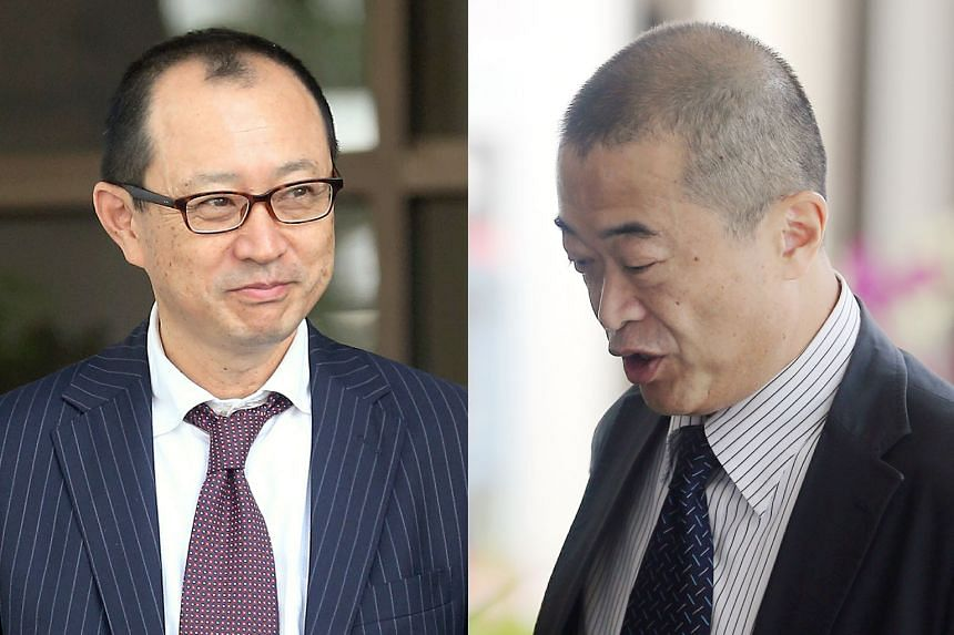 Takaaki Masui (left) and Katsutoshi Ishibe had their original sentences cut after the judge determined that the terms were manifestly excessive.