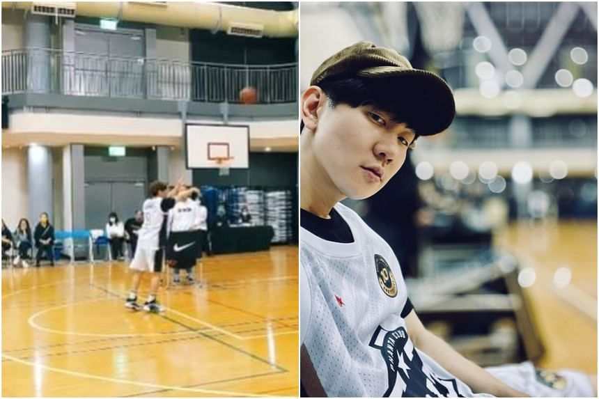 JJ Lin posted a video of him scoring four out of five free throws on a basketball court.
