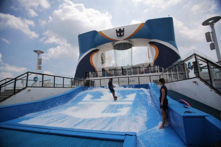 Guests will be given a full run of the ship's many amenities, but bookings must be made in advance for key attractions such as the FlowRider, a surf simulator.