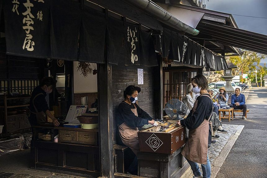 Ichiwa, which has been selling mochi to travellers for more than a thousand years, in Kyoto in October. By putting tradition and stability over profit and growth, the family-operated shop has weathered wars, plagues, natural disasters, and the rise a