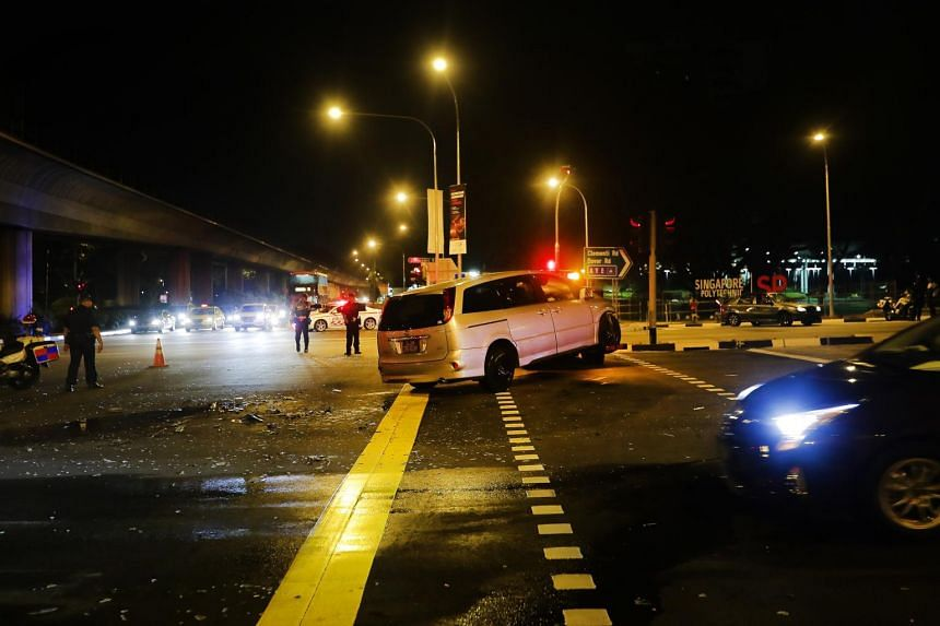 The accident occured at the junction of Commonwealth Avenue West and Clementi Road on April 19, 2018.