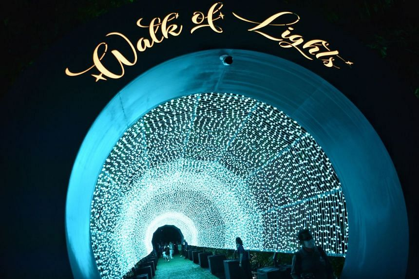 """The """"Walk of Lights"""" features eight large light installations."""