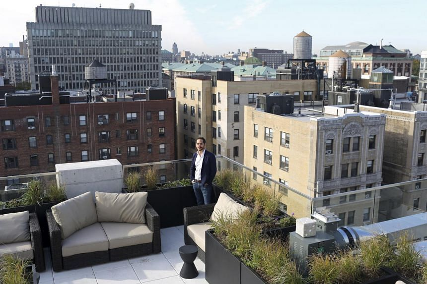 Pebb Capital managing director James Jago on the rooftop of Monarch Heights, which is being marketed to young white-collar workers in New York.