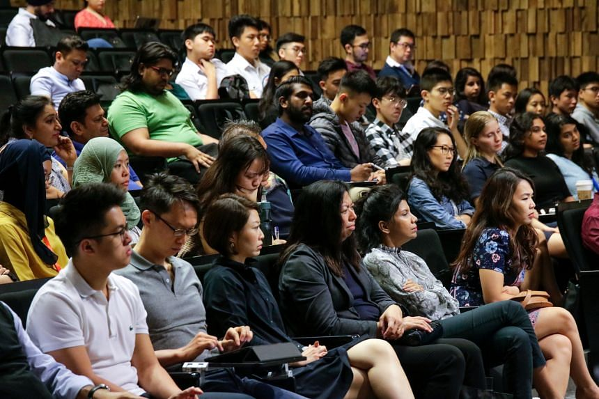 A forum on race relations held here last year. By and large, Singaporeans have tended to tread cautiously or tiptoe around discussions on race. But observers agree there is a need for more open discussion on the topic, noting there are benefits to ha