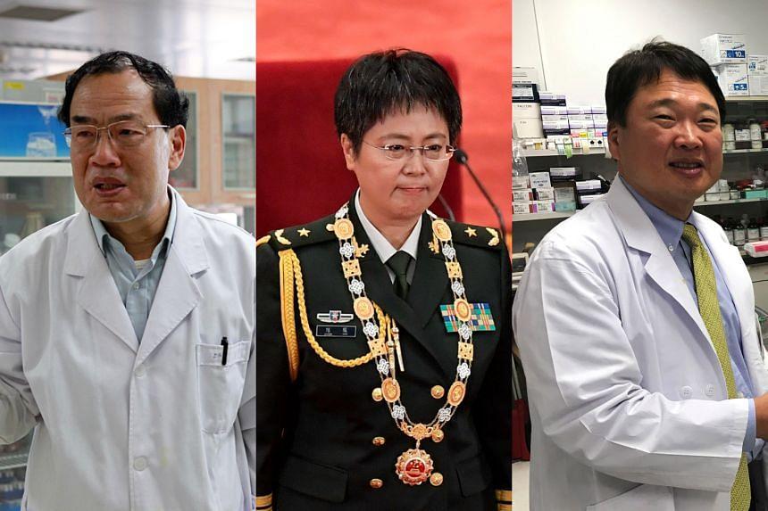 (From left) Prof Zhang Yongzhen, Major-General Chen Wei and Dr Ryuichi Morishita.