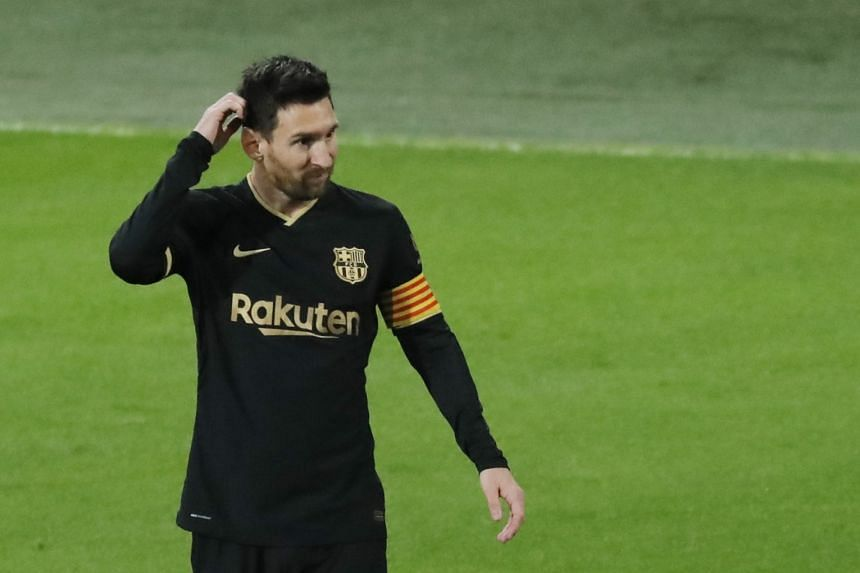 Messi in action during the match.
