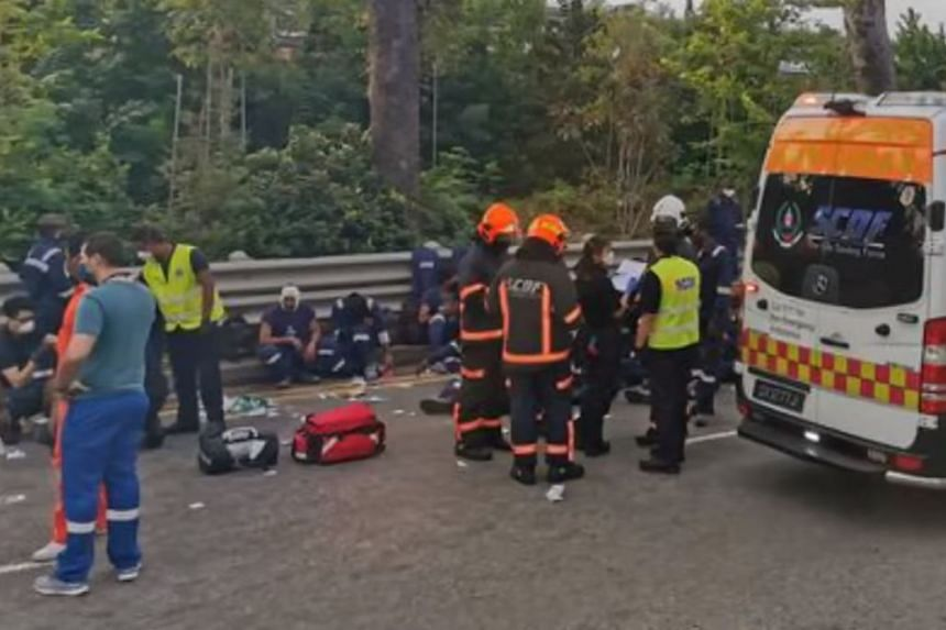 The bus passengers, believed to be foreign workers, were taken to hospital on Dec 6.