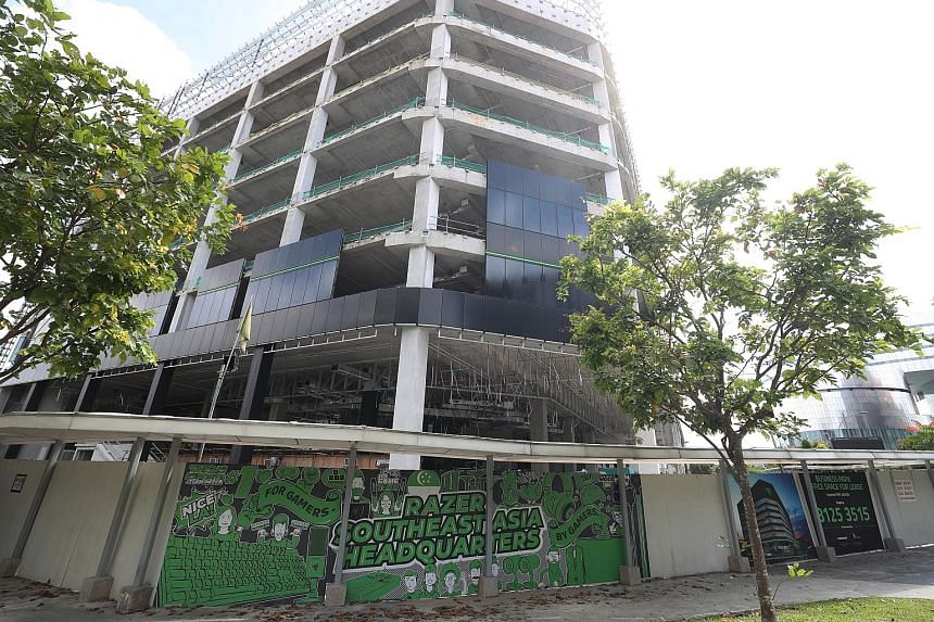 Razer's new South-east Asia headquarters in one-north - spanning close to 208,000 sq ft - is set to be ready by the first quarter of next year after work was delayed by the pandemic. Industry experts noted that even though some firms have chosen to d