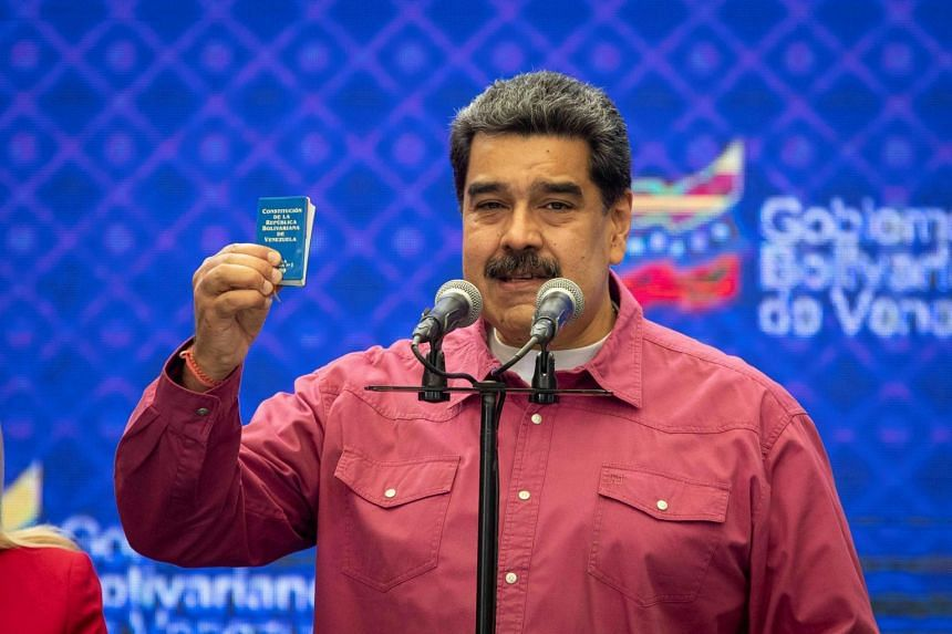 President Nicolas Maduro's (above) win further weakens the position of opposition leader Juan Guaido.