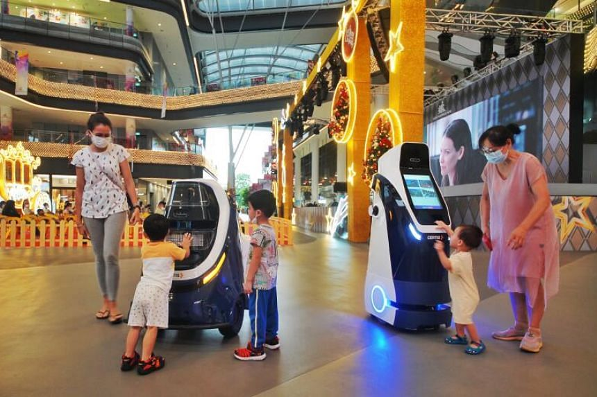 Equipped with 360-degree cameras and sensors, Crystal and Oscar can detect incidents such as overcrowding and smoking.