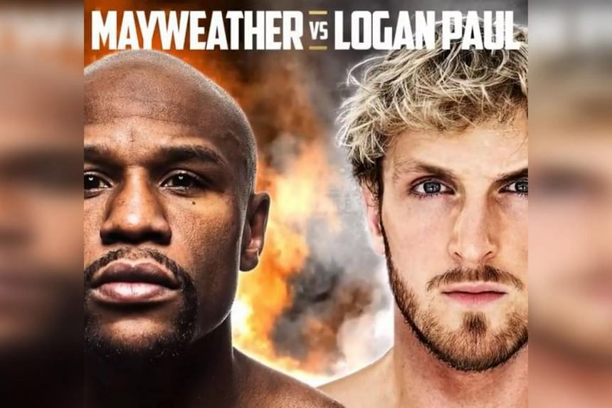 Floyd Mayweather will be giving up 15cm in height to the 188cm-tall Logan Paul.