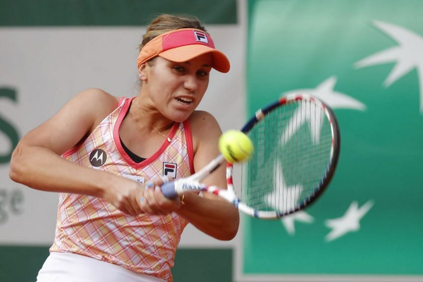 Kenin in action during the French Open in October 2020.