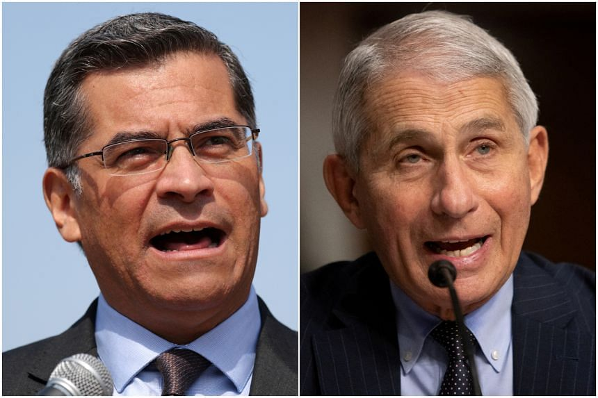 President-elect Joe Biden picked Xavier Becerra (left) for secretary of health and human services and Anthony Fauci (right) as his chief medical adviser on the virus.