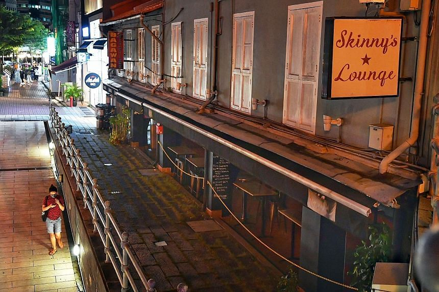 Dive bar Skinny's Lounge (right) at Boat Quay is set to reopen today, while Bar Kiharu (below) at Orchard Plaza, which has been closed for eight months, is reopening this week. PHOTOS: CHONG JUN LIANG, BAR KIHARU/ FACEBOOK
