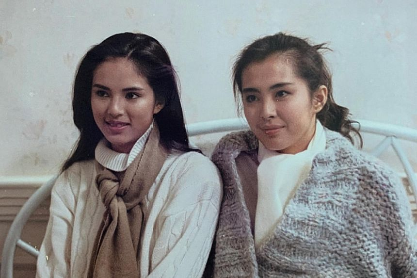 WHEN CARMAN MET JOEY: Hong Kong actress Carman Lee (right, with scarf) has met many actors and actresses throughout her career, but one of those she remembers most fondly is former actress Joey Wong (far right, with hair in a ponytail). Lee, 54, who