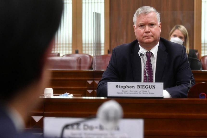 US Deputy Secretary of State Stephen Biegun is also scheduled to meet a number of South Korean officials.