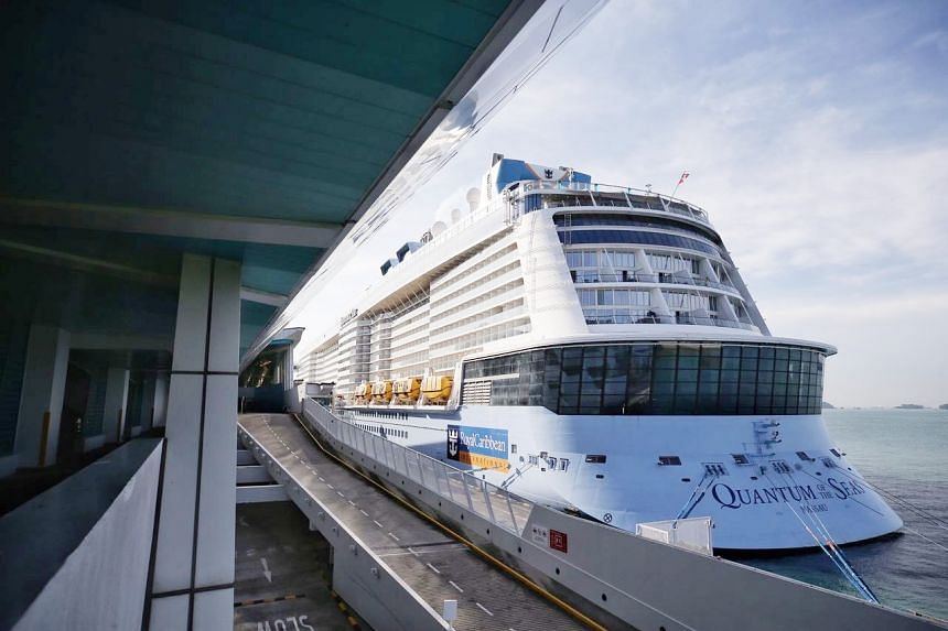 Royal Caribbean cruise ship Quantum of the Seas arrived in Singapore on Dec 9, 2020.