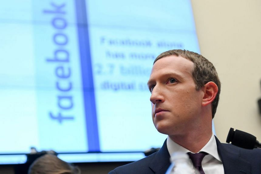 A 2019 photo shows Facebook chief Mark Zuckerberg testifying at a House hearing in Washington.