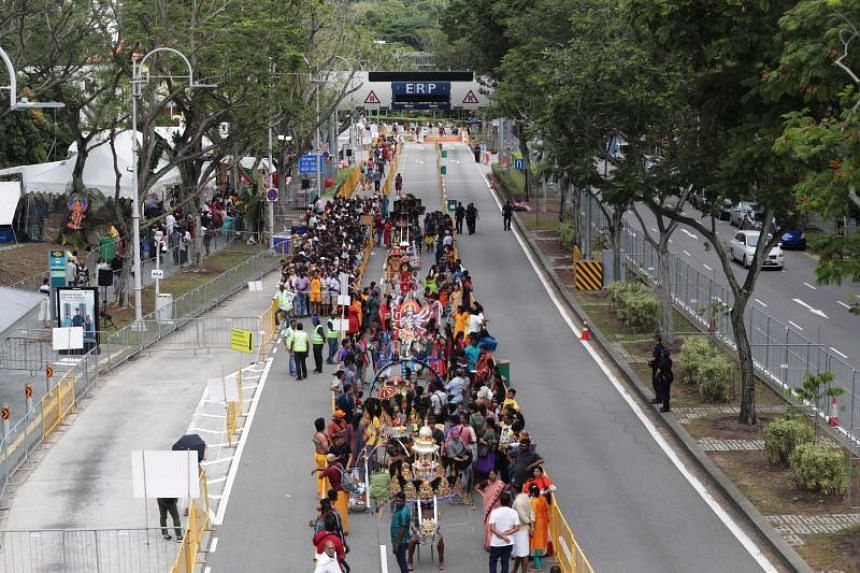 The Thaipusam procession on Feb 8, 2020. Unlike previous years, there will be no foot procession in the Thaipusam festival next month.