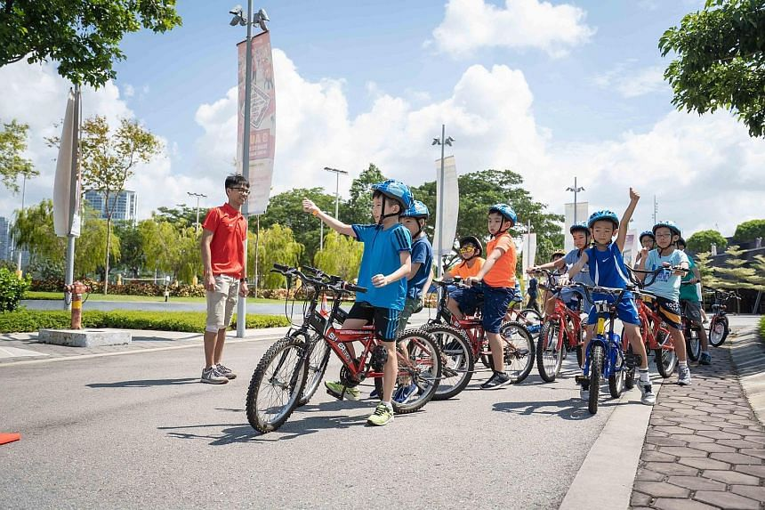 At holiday events, children got to try out sports like spike ball, cycling and basketball during last year's edition of the Sports Development Series organised by the Singapore Sports Hub.