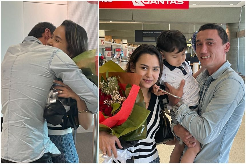 Mr Sadam Abudusalamu posted on Twitter photographs of his family arriving at Sydney airport on Dec 10.