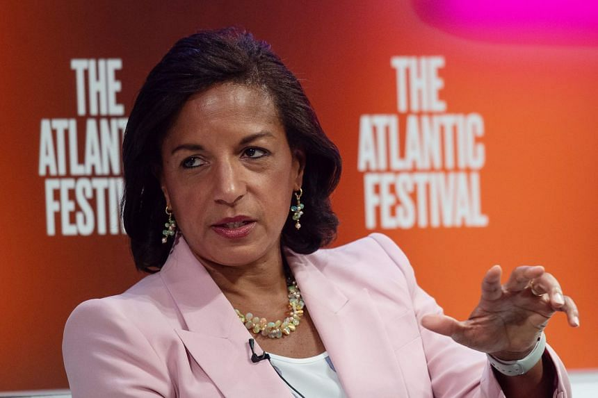 A 2019 photo shows former national security adviser Susan Rice speaking at the Atlantic Festival in Washington.