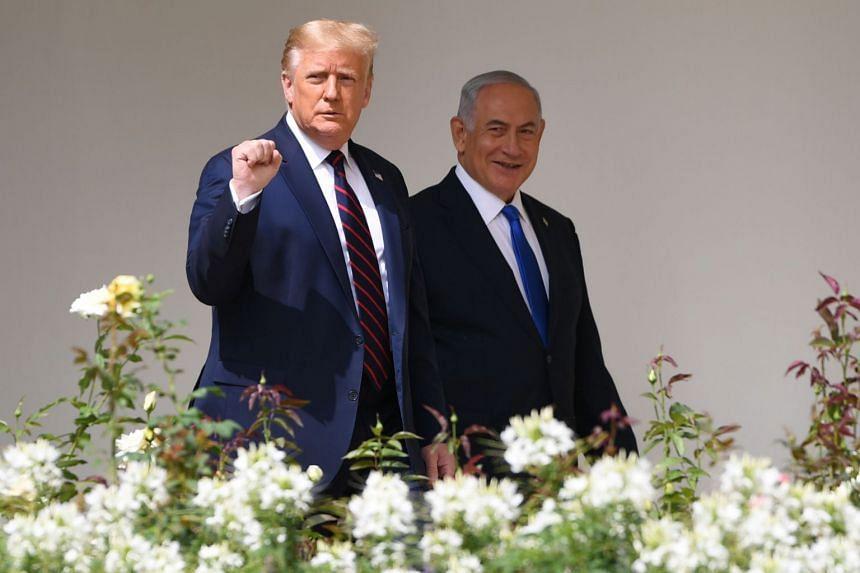 US President Donald Trump (left) and Israeli Prime Minister Benjamin Netanyahu at the White House in September 2020.