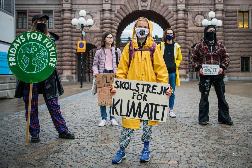 """Greta Thunberg said """"a lot has happened, but the action needed is still nowhere in sight""""."""