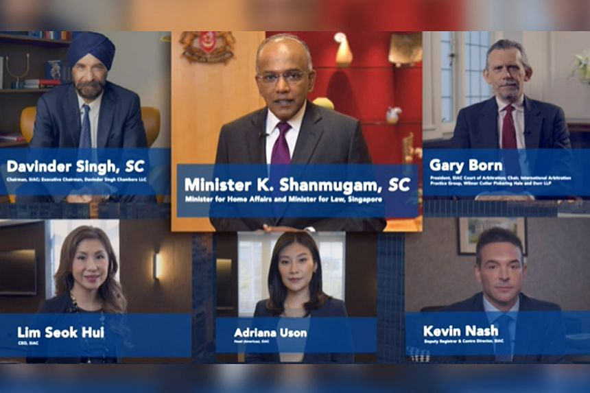 Law and Home Affairs Minister K. Shanmugam noted at the virtual launch of the New York office that one of the biggest users of the SIAC are parties from the US.