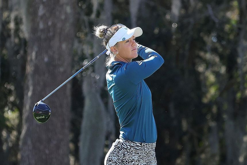 World No. 68 Amy Olson is the surprise leader of the US Women's Open on the back of a hole-in-one at the 16th hole.