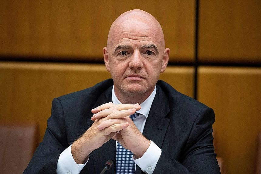 Gianni Infantino is accused of using a private jet to fly between Suriname and Switzerland.
