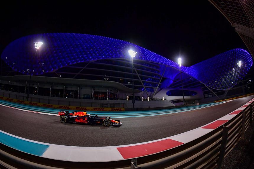 Max Verstappen lapped the Yas Marina track in 1min 36.251 sec.
