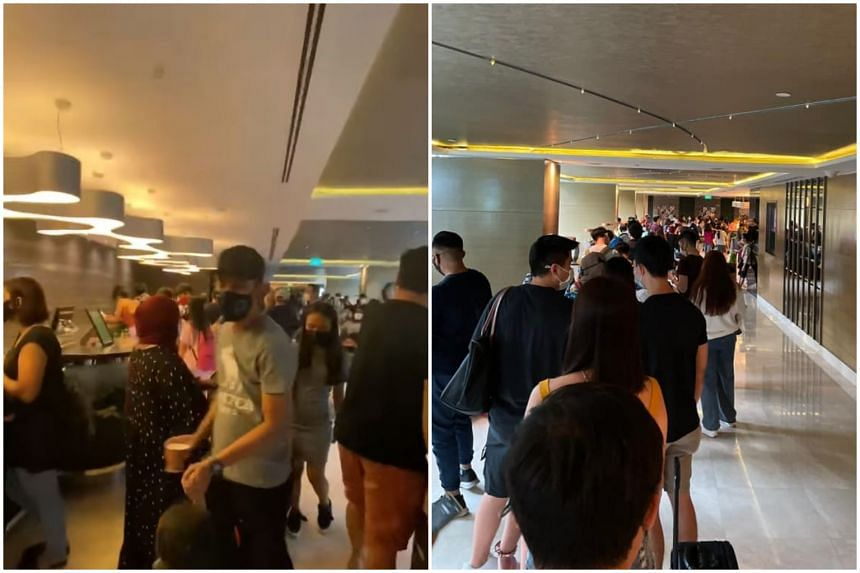 Grand Park Orchard said that long queues to check in at its lobby were caused by a surge in bookings.