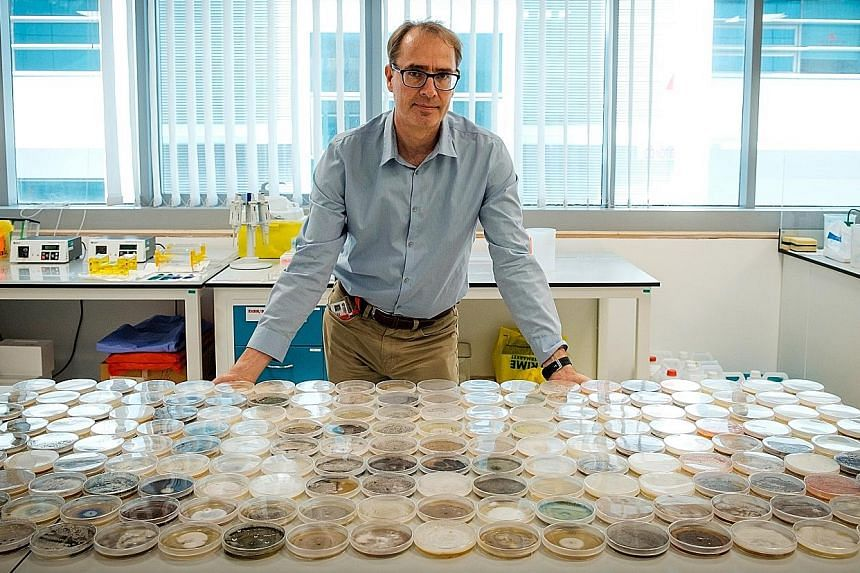 Professor Stephan Schuster says the virus crisis proves that scientists are able to move to new fields. PHOTO: NANYANG TECHNOLOGICAL UNIVERSITY