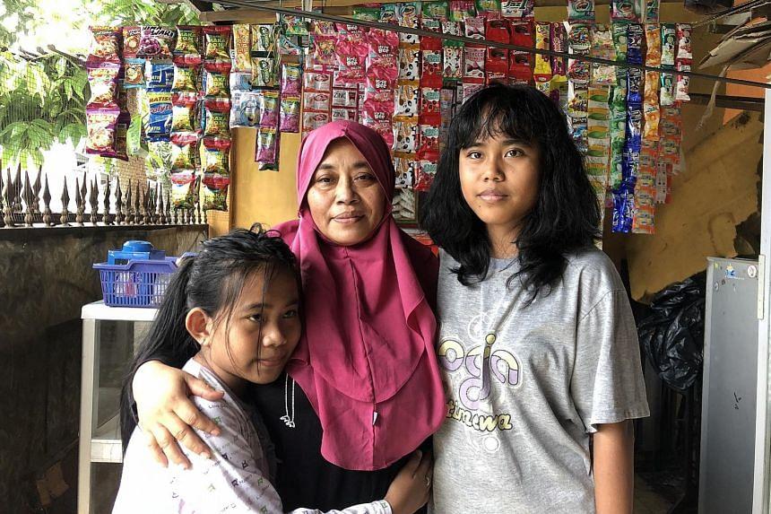 Ms Widya Astuti Boerma in Indonesia last December during a trip to find her biological parents. PHOTO: COURTESY WIDYA ASTUTI BOERMA