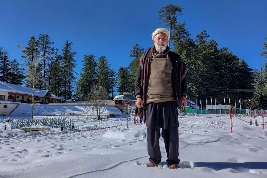 Storyteller Mohammad Naseem in the Shogran hill area in Kaghan Valley, northern Pakistan on Nov 21, 2020.