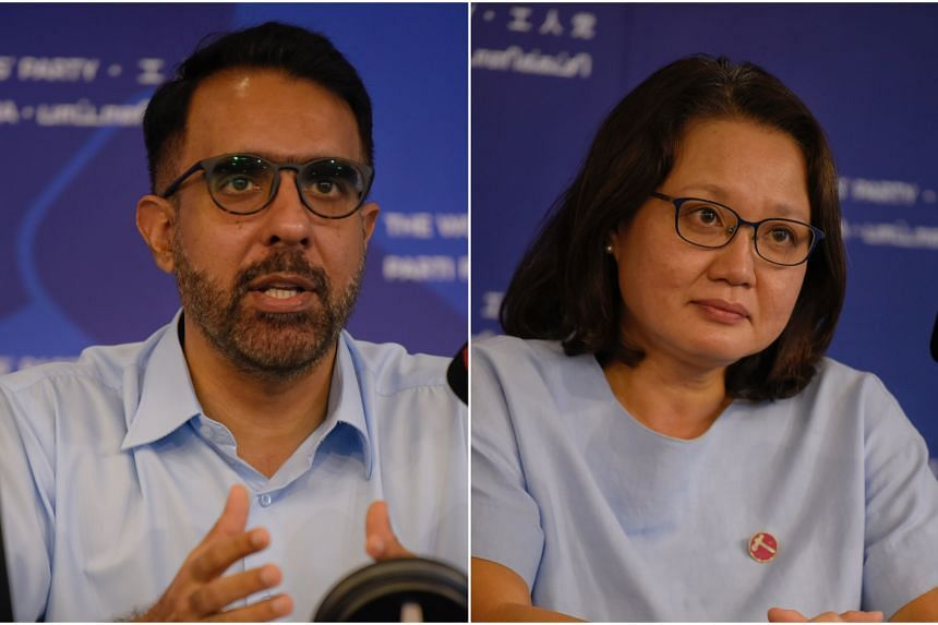 Leader of the Opposition Pritam Singh and the Workers' Party (WP) chairman Sylvia Lim. WP will be electing the party's secretary-general and chairman on Dec 27.