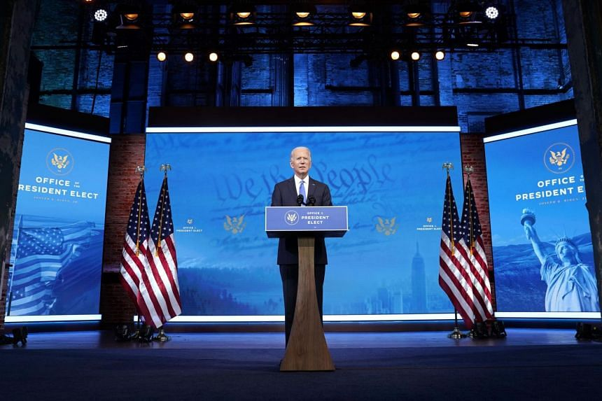"""US President-elect Joe Biden urged Americans to look ahead to the """"urgent work"""" of """"getting the pandemic under control to getting the nation vaccinated against this virus""""."""