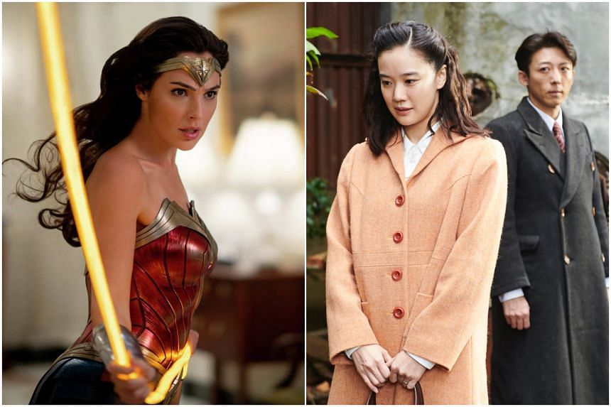 Stills from Wonder Woman 1984 (left) and Wife Of A Spy.