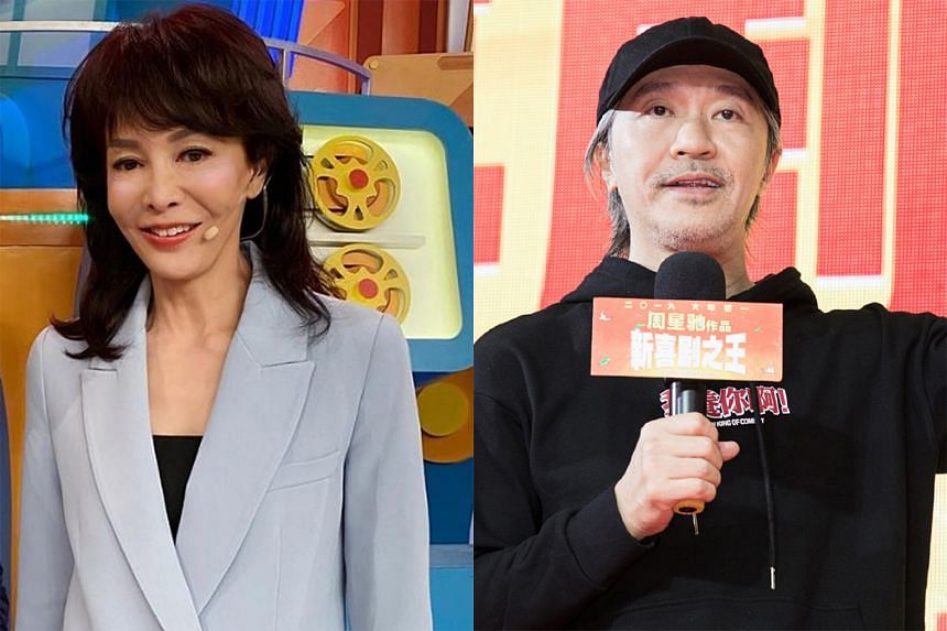 Carol Cheng (left) addressed the rumour that she told Stephen Chow (right) years ago that he would never become a leading actor, saying she had been misquoted.