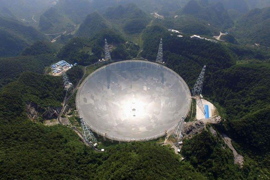 The 500m giant satellite dish is easily the world's largest and cost 1.1 billion yuan to build.