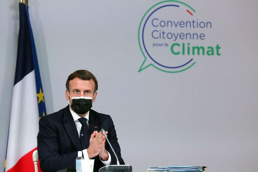 French President Emmanuel Macron has sought to sustain momentum internationally to cut carbon emissions.