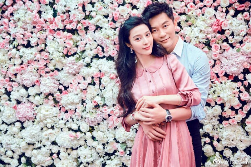 Fan Bingbing with ex-fiance Li Chen in a photo posted on social media in September 2017.