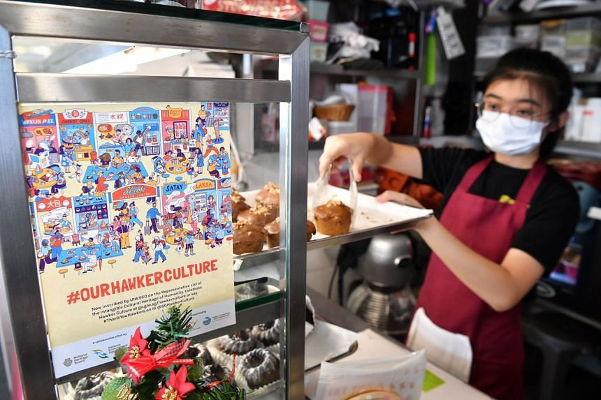 Hawkers will be able to stick the label on their stall fronts.