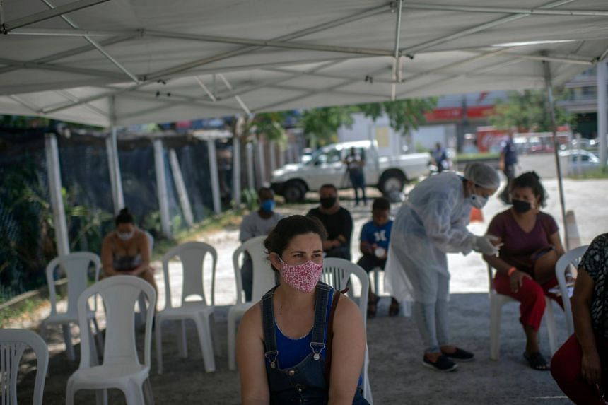Weekly infections in Brazil are hovering above 300,000.